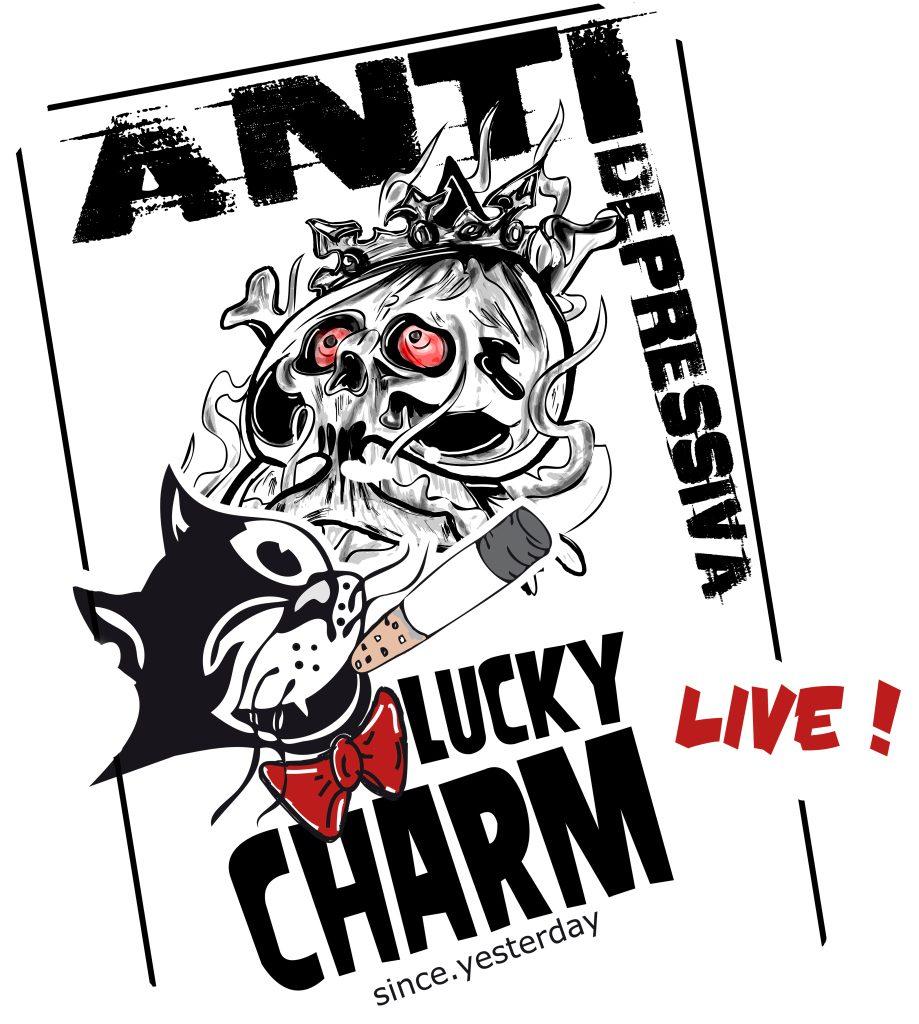 Grafik Tourplakat Antidepressiva und Lucky Charm