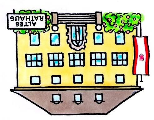 Grafik das Rathaus auf dem Kopf