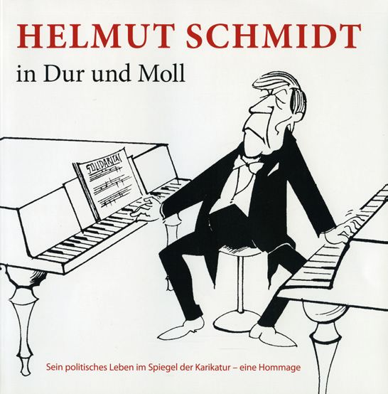 Karrikatur Helmut Schmidt