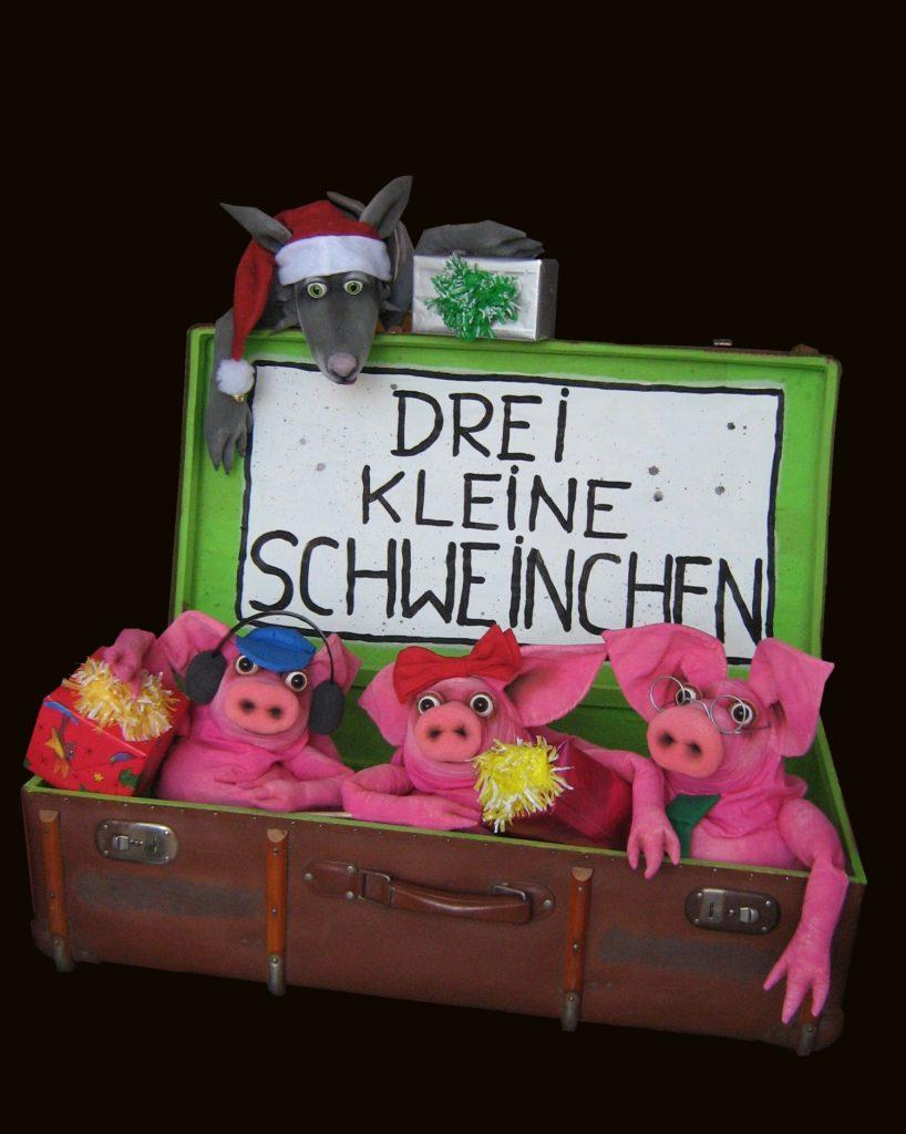Drei Schweinchen und derWeihnachtswolf (Seifenblasen-Figurentheater)