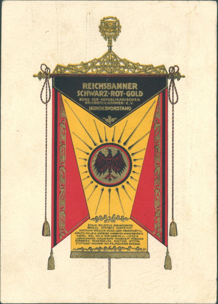 Grafik Reichsbanner Schwarz-Rot-Gold